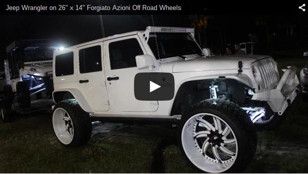 Jeep Wrangler On 26 Quot X 14 Quot Forgiato Azioni Off Road Wheels Big Rims Custom Wheels