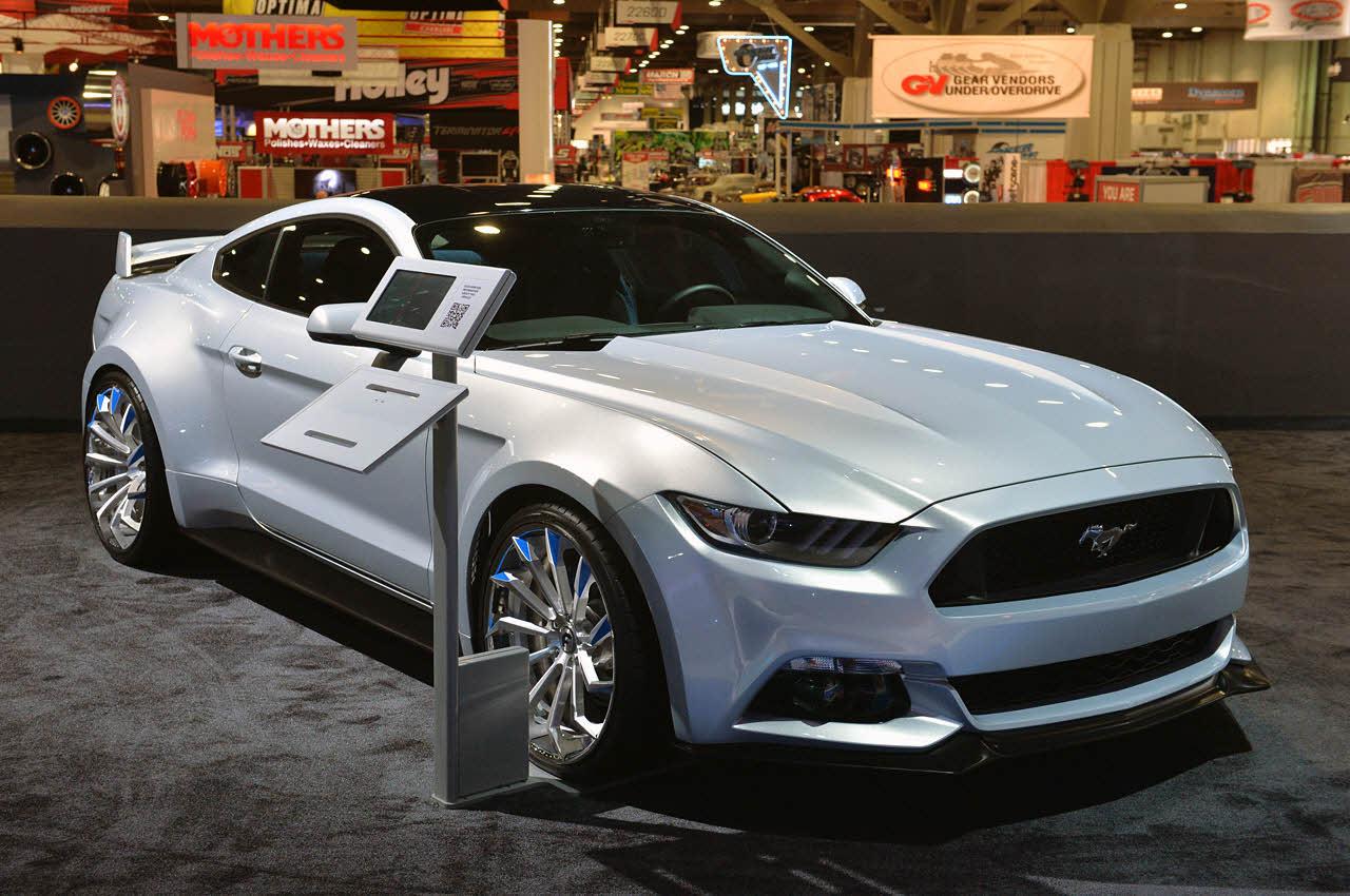 2015 Forgiato Widebody Mustang At Sema 2014 Big Rims