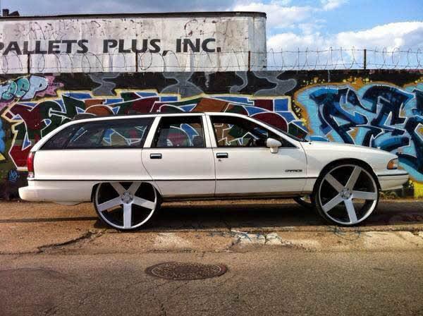Chevy Caprice Wagon on Dub Ballers - Big Rims - Custom Wheels
