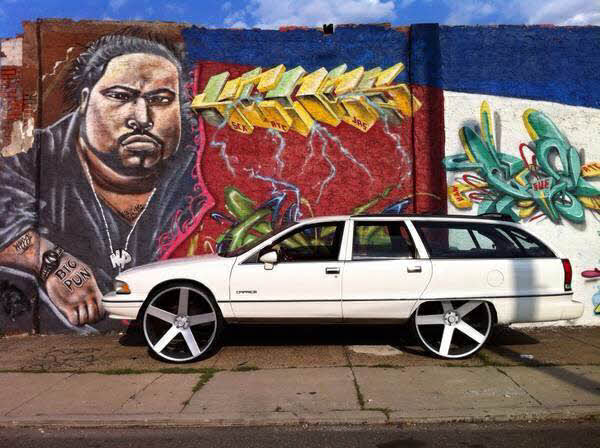 Chevy Caprice Wagon On Dub Ballers Big Rims Custom Wheels