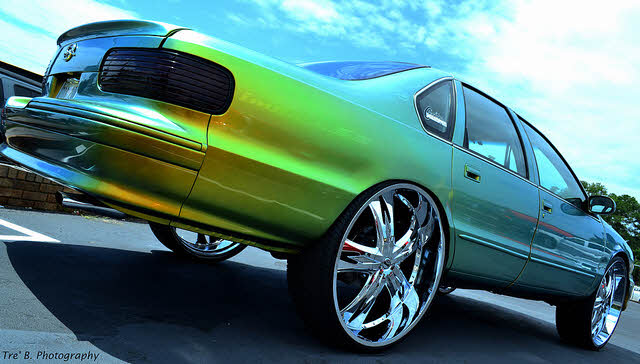 Chevy Impala On 28 S Big Rims Custom Wheels