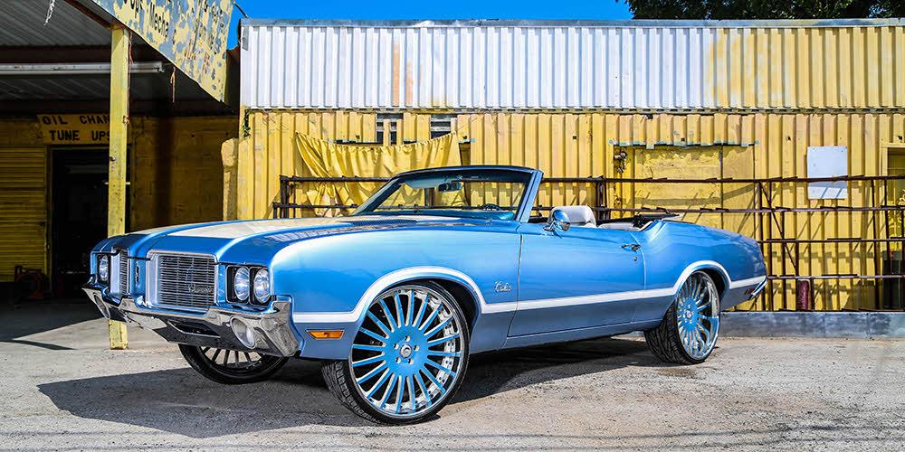 Cutlass On 30 Inch Rims : Oldsmobile cutlass on forgiato s big rims custom wheels
