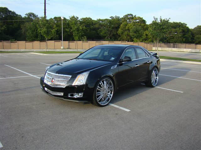Cadillac Cts Sitting On 24 S Big Rims Custom Wheels