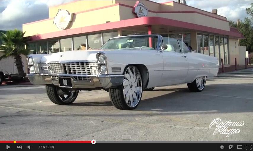 67 Cadillac On 28 Inch Rucci Forged Solare Big Rims Custom Wheels