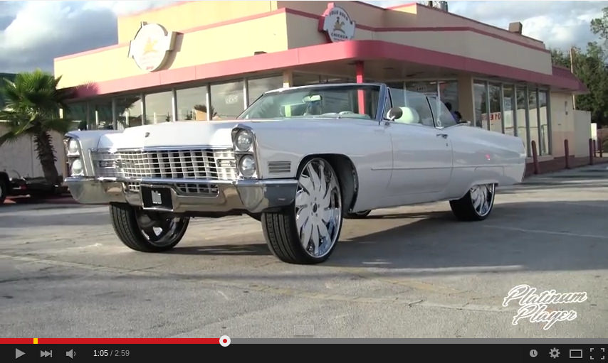 67 Cadillac On 28 Inch Rucci Forged Solare Big Rims
