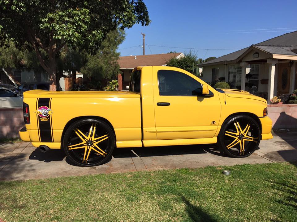 Dodge Ram With 22 Inch Rims >> Yellow & Black Dodge Ram On 30 inch Diablo Wheels - Big Rims - Custom Wheels