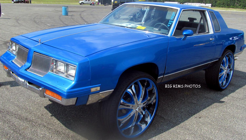 Cutlass On 30 Inch Rims : Custom oldsmobile cutlass on s big rims wheels