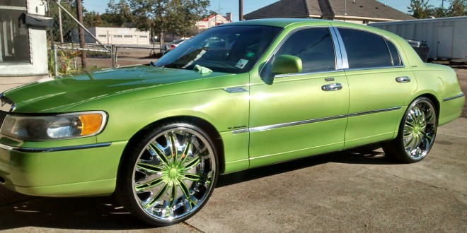 Lincoln On 24 Inch Velocity Rims Big Rims Custom Wheels