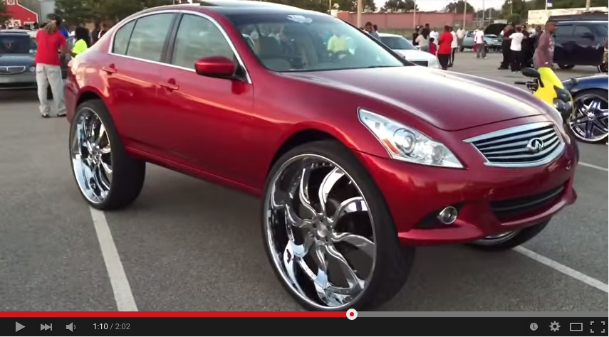 "1st in the World Infiniti G37 on 32"" inch Amani Wheels ..."