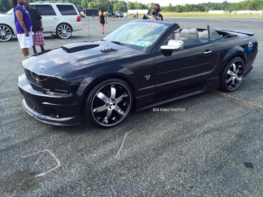 custom ford mustang on noir vendetta wheels big rims custom wheels. Black Bedroom Furniture Sets. Home Design Ideas