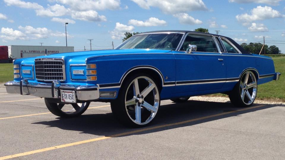 Oldschool 1975 Ford Ltd On 26 Irocs Big Rims Custom Wheels