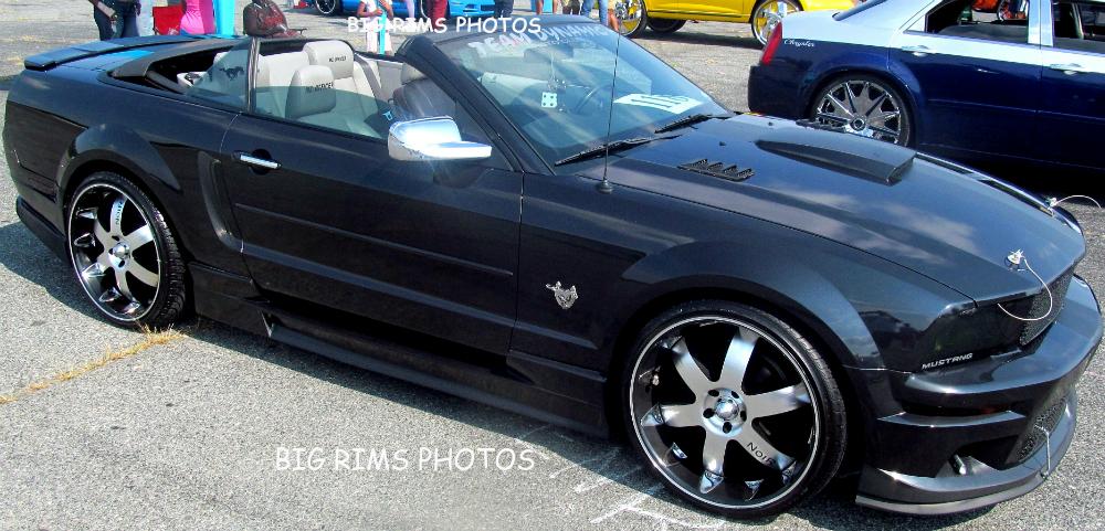 Customized Mustang >> Custom Ford Mustang On Noir Vendetta Wheels - Big Rims - Custom Wheels