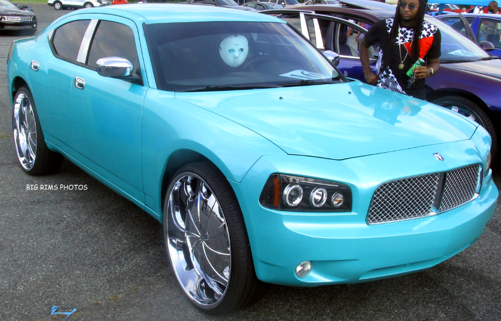Charger On 30 Inch Rims : Dodge charger on starr wheels big rims custom