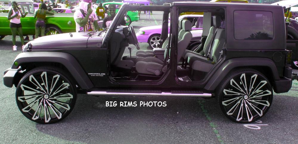 Jeep Wrangler on Starr Wheels 469 SKS Black - Big Rims ...