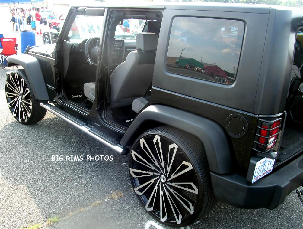 Jeep Wrangler Wheels >> Jeep Wrangler on Starr Wheels 469 SKS Black - Big Rims - Custom Wheels