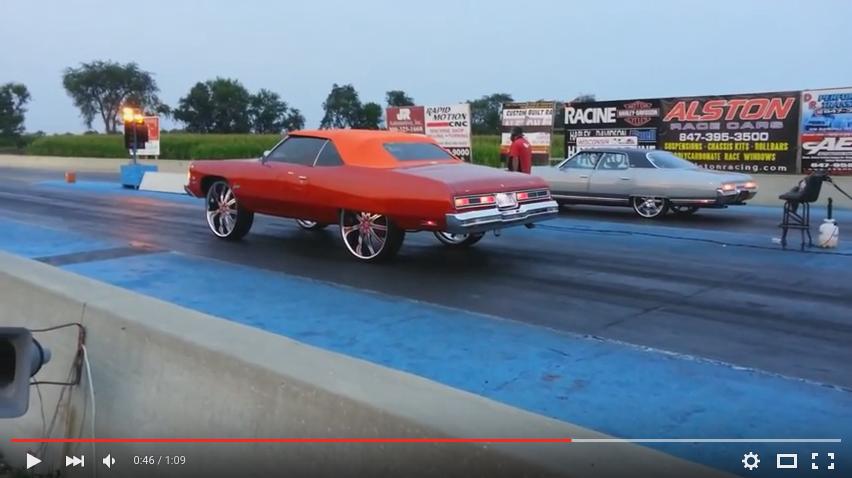 1974 Impala On 30s Vs 4dr Donk On 22s Big Rims Custom Wheels