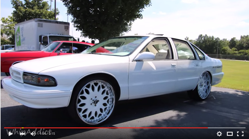 96' Chevrolet Impala SS squattin white Forgiato Granos ...