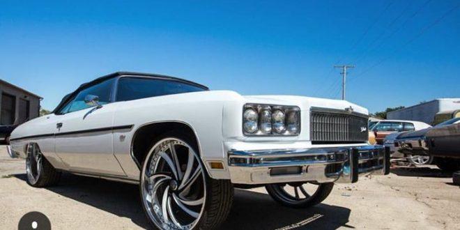 1975 chevy caprice convertible - Big Rims - Custom Wheels