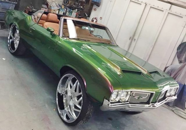 Cutlass On 30 Inch Rims : Oldsmobile cutlass convertible on brushed