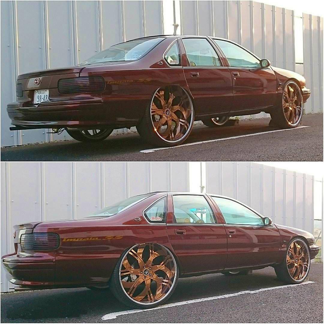 Nasty 1996 Chevy Impala SS #ChevyBubble - Big Rims ...
