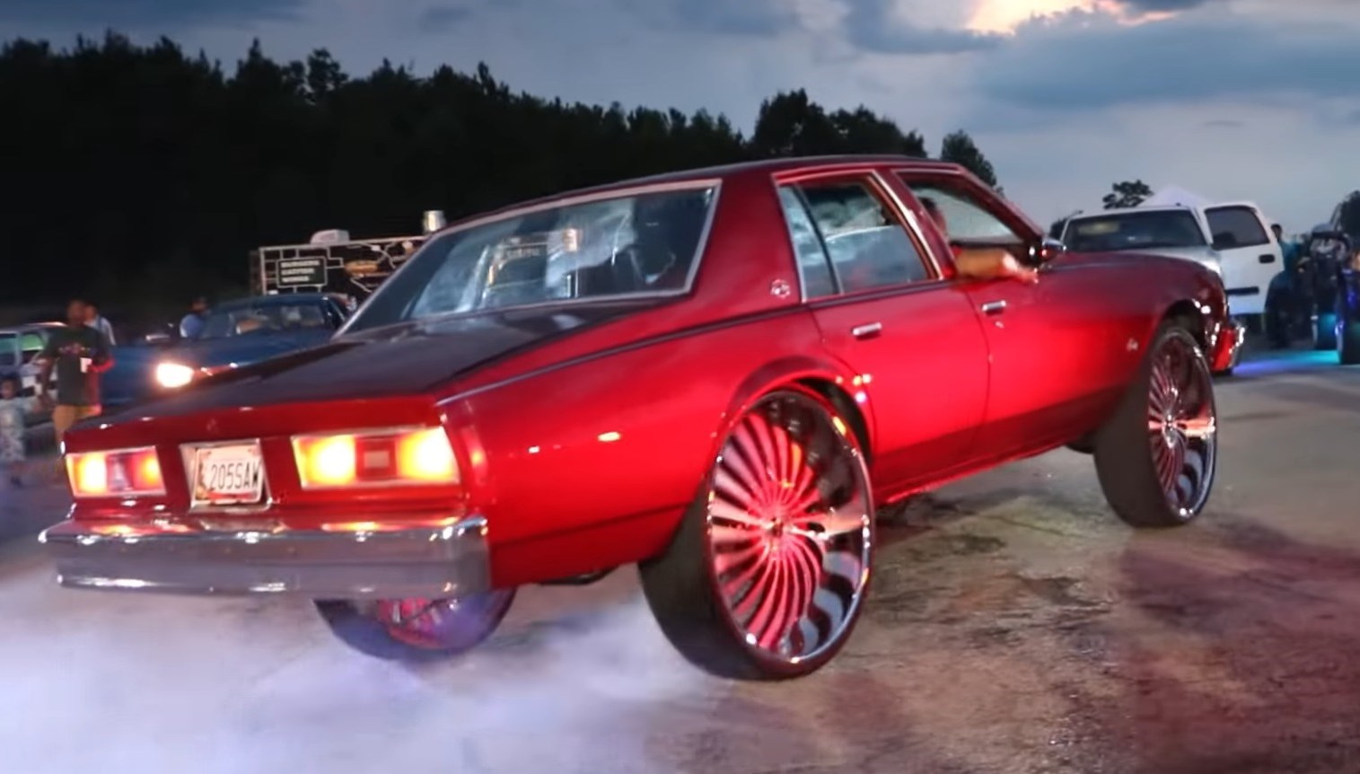 Candy Red 79 Chevy Impala on 30 inch. Leather Interior ...