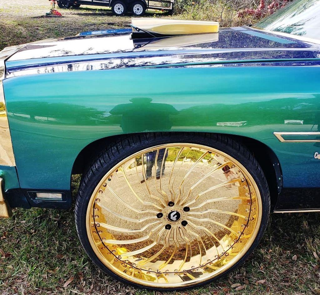 1975 Chevy Vert On Gold 28 Inch Wheels